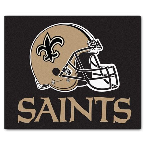 new orleans saints rug fanmats new orleans saints 5 ft x 6 ft tailgater rug 5773 the home depot
