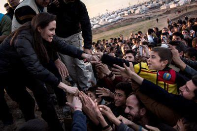 Brad Spend With Refugees by Brad Pitt Angry Quot More Concerned Quot With