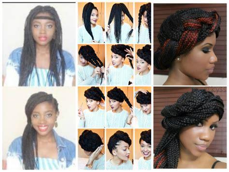 how to put your box braids in a bun a few options for styling your box braids bun braid
