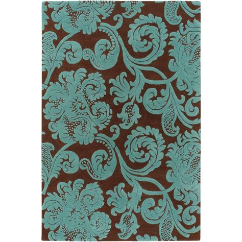 linon home decor milan collection brown and turquoise 5 ft aqua and brown area rugs rugstudio presents linon milan
