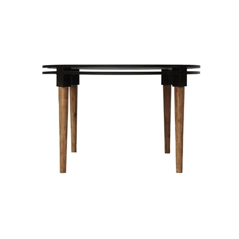 Dining Table Wood And Metal Medley Dining Table Acacia Wood Metal Base 48 48 30 Td1283 Ea 00 Tables Bois Cuir