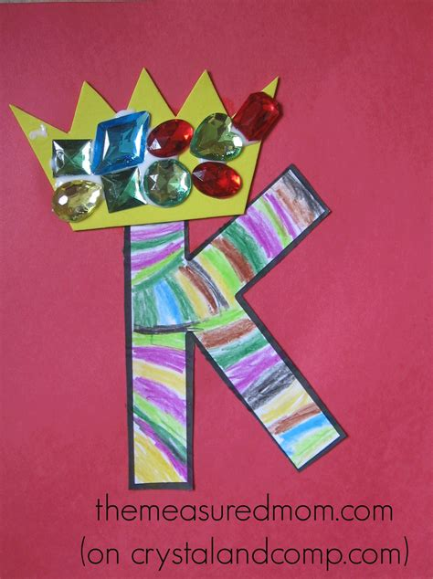 and crafts activities crafts for letter k the measured