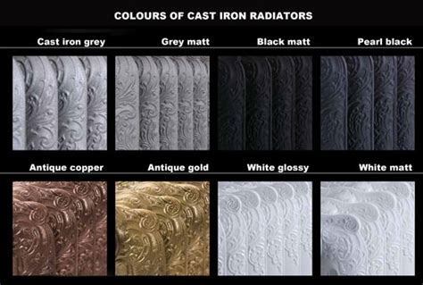 color of iron radiator colours