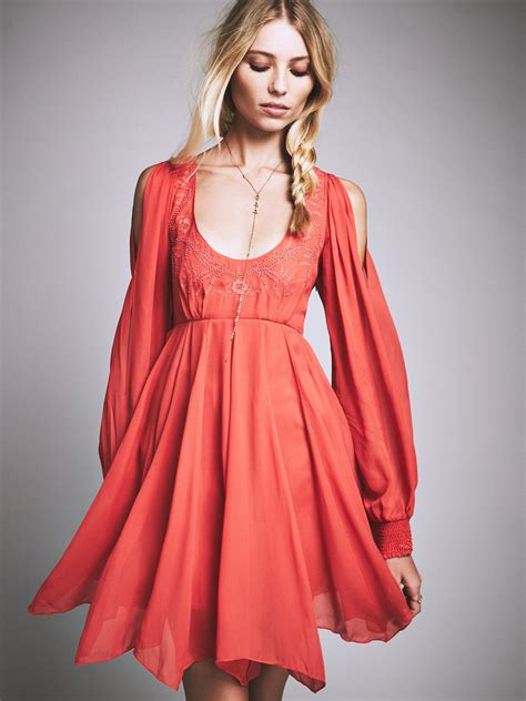 free people swing free people tatiana swing dress in orange lyst