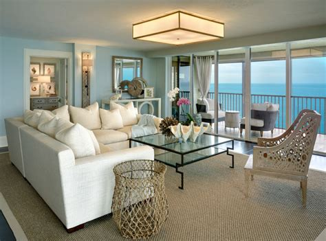 coastal cottage condo style living room other
