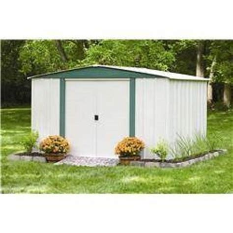 Storage Shed For Lawn Mower by Outdoor Storage Shed Steel Building Metal Garden Tool