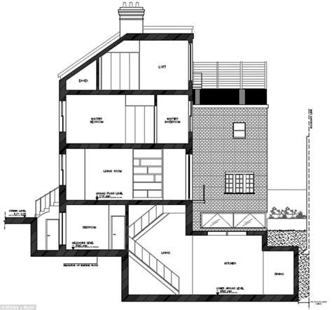 how to draw a basement floor plan 1 4 per foot house basement drawing www pixshark images