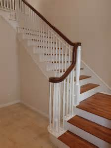New Stair Banisters Laminate Flooring Practically Renovating