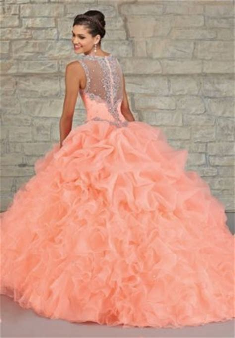 vestidos de 15 color salmon umagenes imagenes de vestidos de 15 color salmon para lucir linda