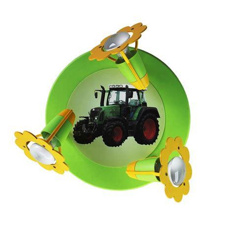 deckenleuchte kinderzimmer grun deckenleuchte f 252 r das kinderzimmer mit traktor in gr 252 n und