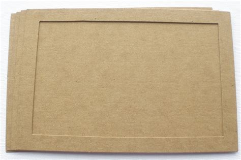 Frame Chipboard 4 x 6 frame and back matt bare chipboard die cuts picture