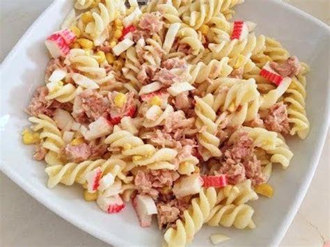 que cocinar con pasta receta de ensalada de pasta con vegetales