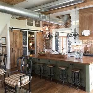 Farmhouse Kitchens Pictures by Eclectic Homes Love This Farmhouse Kitchens And Brick Walls