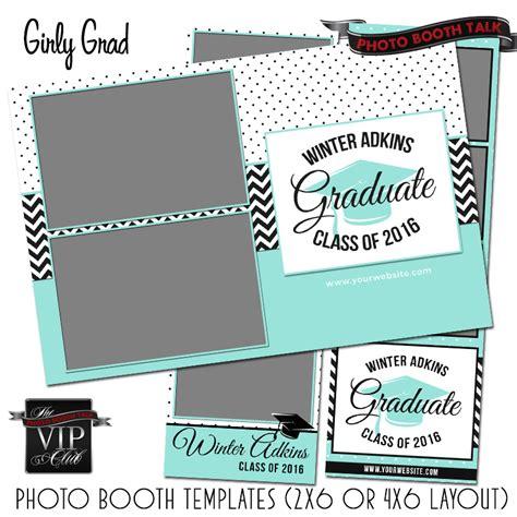 Girly Grad Photo Booth Talk Graduation Photo Templates