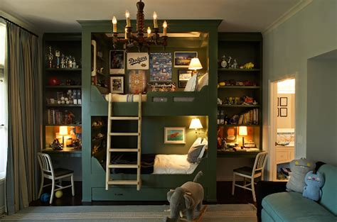 Boys Room Bunk Beds Built In Bunk Beds Cottage Boys Room Kristen Panitch Interiors Bedroom Furniture Reviews