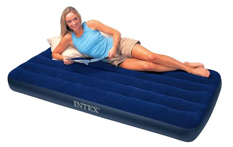twin size air bed intex 68757 twin size classic downy air bed inflatable mattress waterproof ebay