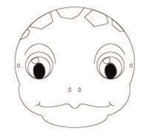 free printable turtle mask template endangered animal masks for to make http www