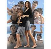 Oreschnick Poses Mothers And Their Daughters  3D Models