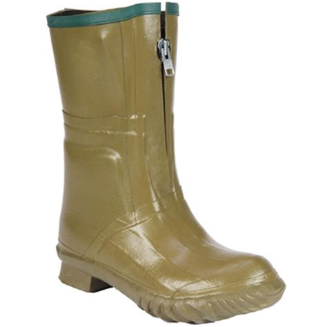 S Zipper Rubber Boots by Servus 13 In Insulated S Olive Zipper Pac Boots 21819