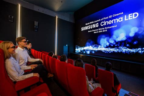 cinema zurich samsung debuts world s first 3d cinema led screen theater