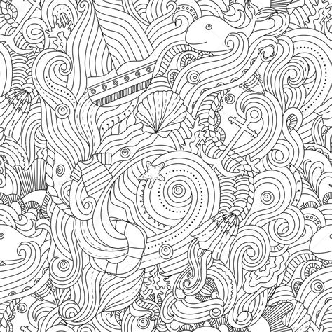 nautical coloring pages for adults nautical pattern adult coloring page stock vector