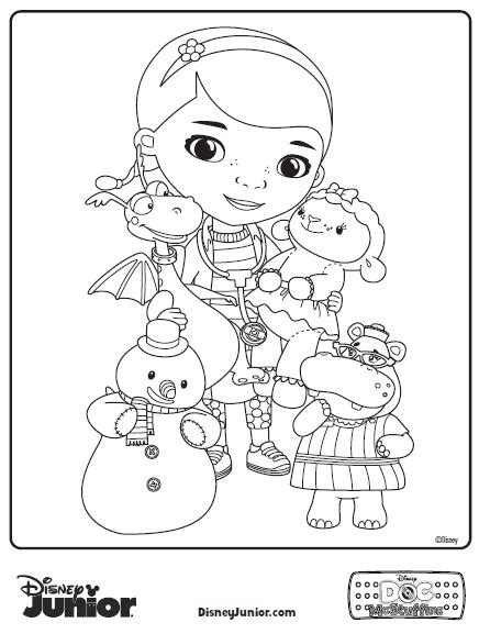 doc mcstuffins coloring pages free doc mcstuffins coloring pages
