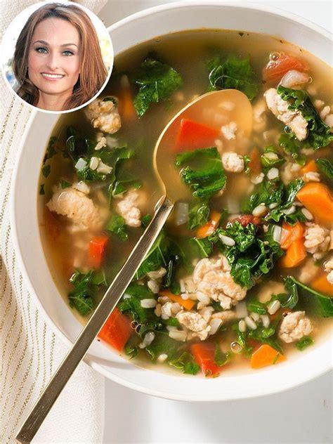 healthy turkey soup recipe giada de laurentiis turkey soup thanksgiving turkey kale