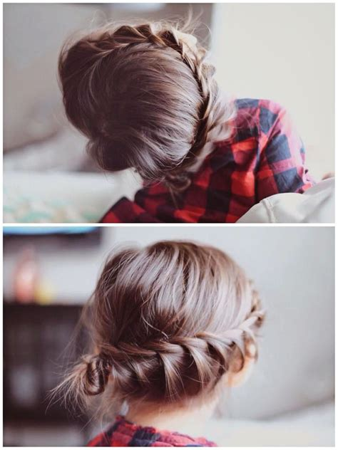 cute easy hairstyles simple braided flower updo fresh cuts braid little girl hairstyle updo do it