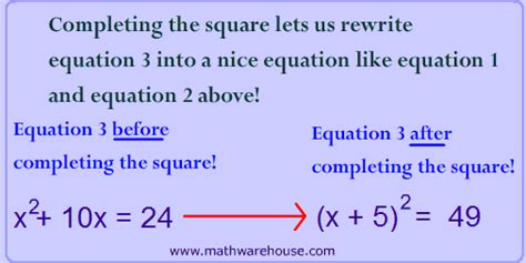 completed definition completing the square in math the easy way exles and