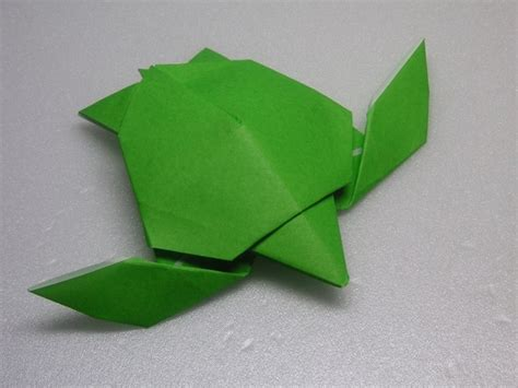Origami Society - sea turtle creator diagram jacky chan hong kong