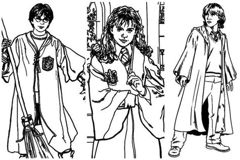 free harry ron and hermione coloring pages halloween harry potter ginny coloring page coloring home