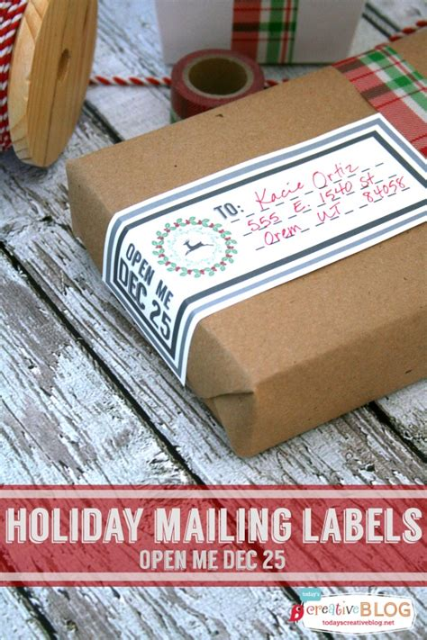 printable holiday mailing labels todays creative life