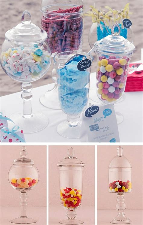 decorative glass jars for candy buffets and wedding
