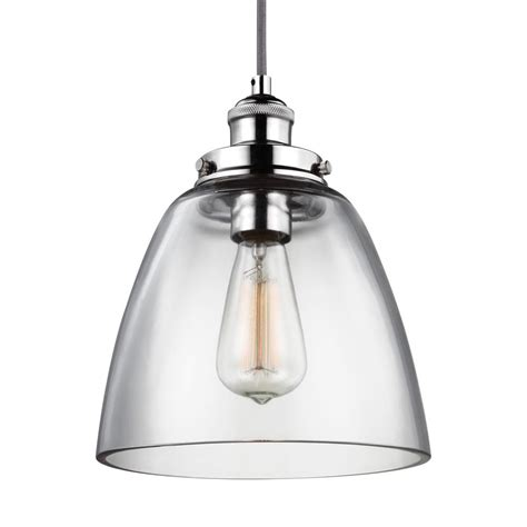 Feiss Baskin 1 Light Polished Nickel Pendant P1349pn The Polished Nickel Pendant Lights