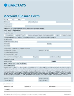 closing account letter barclays forms given when opening an account in barclays bank