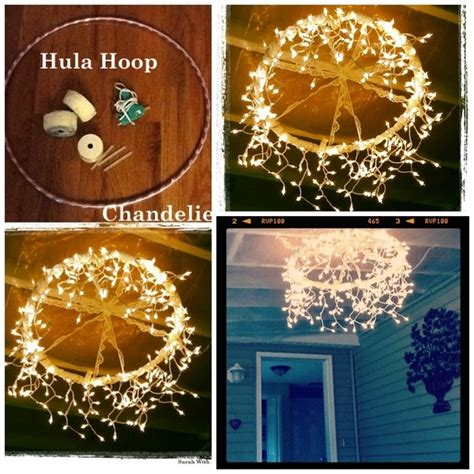 How To Fix A Chandelier Diy Hula Hoop Chandelier Pictures Photos And Images For Pinterest And