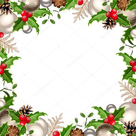 cornice natalizie cornice di natale illustrazione di vettore vettoriali