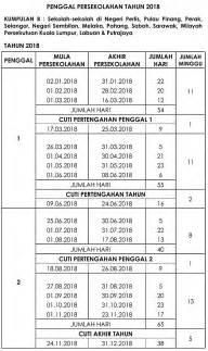 Kalender 2018 Malaysia Cuti Umum Kalender Senarai Cuti Umum 2018 Malaysia Dan Cuti Sekolah