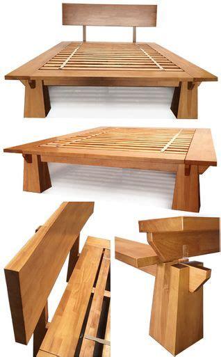 tall wakayama platform bed honey oak   bedroom
