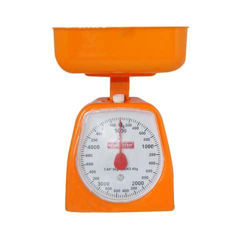Timbangan Kue Plastik jual kenmaster timbangan kue orange 5 kg