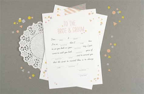 mad gab card template confetti wedding mad libs printables