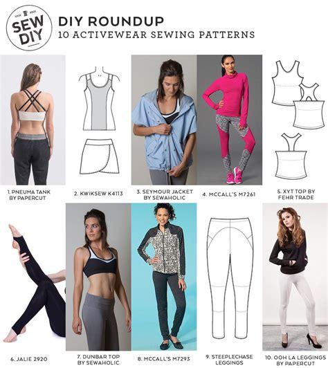 clothing pattern maker free 10 activewear sewing patterns diy roundup sewing diy