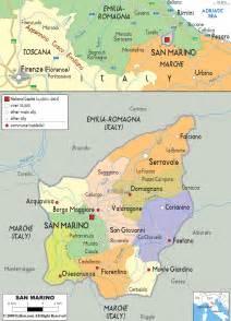 san map political map of san marino ezilon maps