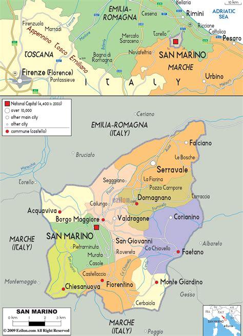 san marino on map of europe san marino kapital karte