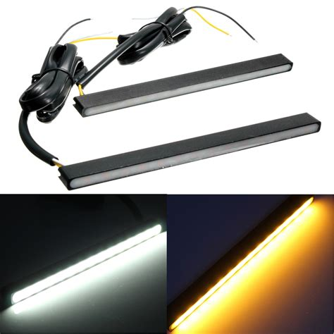 led turn signal lights universal led driving daytime running drl turn signal