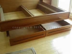 Teak Platform Bed With Storage Modern Teak King Platform Bed 2 Storage Drawers
