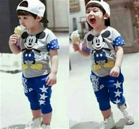 Baju Setelan Anak Cowok Laki Kaos Bintan Kode Vc14753 setelan baju kaos anak laki laki quot mickey mouse quot model