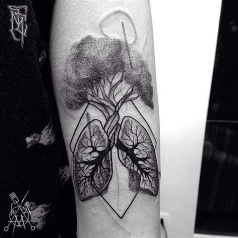 lung tattoo lungs tree arm tattoos lungs