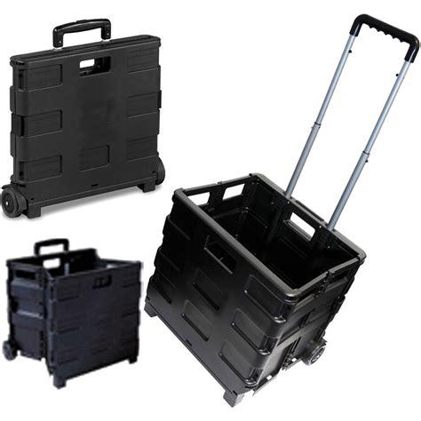 box cart 25kg folding shopping trolley storage boot cart box crate