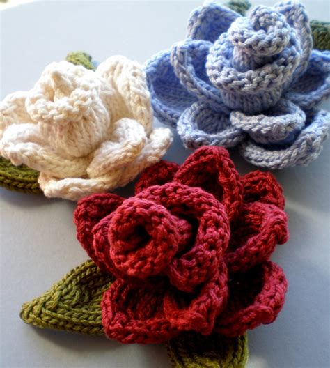 Knit Flower Pattern A Knitting